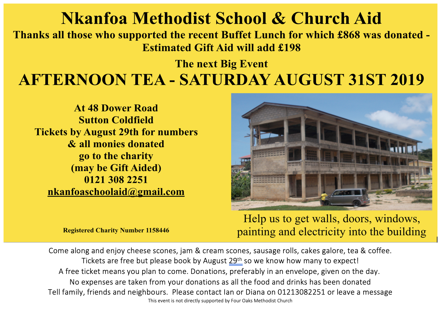 Afternoon Tea on 31st August 2019
